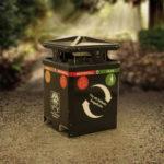 Sortify källsorteringspapperskorg / avfallsbehållare för offentlig miljö