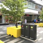 Mango källsorteringskärl för offentlig utomhusmiljö